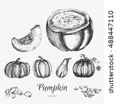 hand drawn pumpkin | Shutterstock .eps vector #488447110
