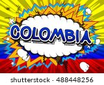 colombia   comic book style... | Shutterstock .eps vector #488448256