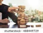 teamwork business people help... | Shutterstock . vector #488449729