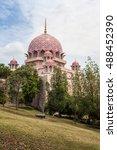 pink mosque in putra jaya city  ...   Shutterstock . vector #488452390