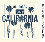 california t shirt graphic... | Shutterstock .eps vector #488454178