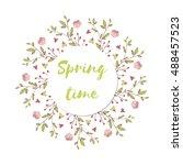 floral frame   Shutterstock .eps vector #488457523