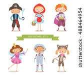 Different Kids Costumes Vector...