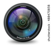 camera lens isolated front view ... | Shutterstock .eps vector #488470858
