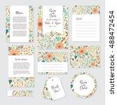 vector gentle wedding cards...   Shutterstock .eps vector #488472454