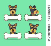cartoon character yorkshire... | Shutterstock .eps vector #488480059