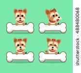 set of cartoon character...   Shutterstock .eps vector #488480068