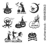 new vector set of eight... | Shutterstock .eps vector #488480863
