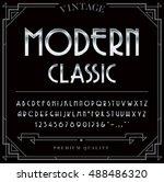 silver or chrome metallic font... | Shutterstock .eps vector #488486320