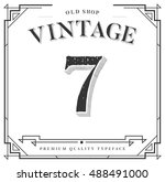 vector font. numbers with... | Shutterstock .eps vector #488491000