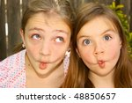 Two Fish lips - stock photo
