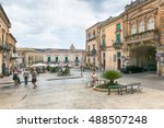 ragusa  sicily  july 26  2016... | Shutterstock . vector #488507248