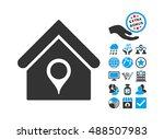 house location icon with bonus... | Shutterstock . vector #488507983