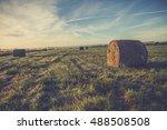 sunset over wheat field  field...   Shutterstock . vector #488508508