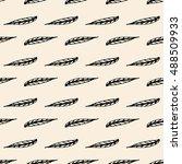 seamless pattern of decorative... | Shutterstock .eps vector #488509933
