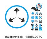 expand arrows pictograph with... | Shutterstock . vector #488510770