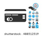 credit card icon with bonus... | Shutterstock . vector #488512519