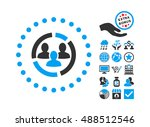 demography diagram icon with... | Shutterstock . vector #488512546