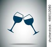 wineglasses vector icon
