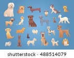 collection cute different type... | Shutterstock .eps vector #488514079