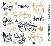 vector set of hand lettering... | Shutterstock .eps vector #488514838