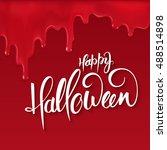 vector halloween lettering...   Shutterstock .eps vector #488514898