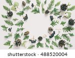 winter or autumn season floral... | Shutterstock . vector #488520004