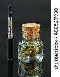 marijuana bud cannabis in glass ... | Shutterstock . vector #488527930