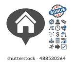 house info balloon pictograph... | Shutterstock . vector #488530264