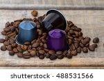 italian espresso coffee... | Shutterstock . vector #488531566