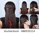 tutorial photo step by step of... | Shutterstock . vector #488533114
