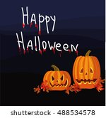 halloween night  background... | Shutterstock .eps vector #488534578