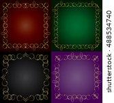 set frames with openwork motif. ... | Shutterstock .eps vector #488534740