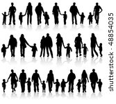 big collect vector silhouettes... | Shutterstock .eps vector #48854035