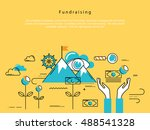line flat vector business... | Shutterstock .eps vector #488541328