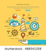 flat line modern corporate... | Shutterstock .eps vector #488541358