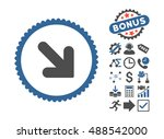 arrow down right pictograph... | Shutterstock . vector #488542000