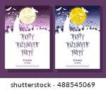 set of halloween background.... | Shutterstock .eps vector #488545069
