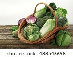 Basket With Various Cabbages  ...