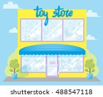 facade toy store with a... | Shutterstock .eps vector #488547118