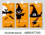 set of funny holiday banner ... | Shutterstock .eps vector #488547700