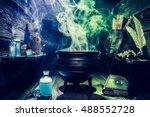 Vintage witcher cauldron with...