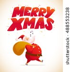 vector new year and merry...   Shutterstock .eps vector #488553238