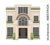 real estate design hotel... | Shutterstock .eps vector #488559424