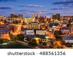 Small photo of Portland, Maine, USA downtown cityscape.