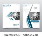 annual report cover  brochure... | Shutterstock .eps vector #488561740