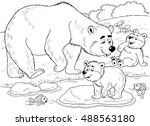 at the zoo. forest animals. a... | Shutterstock . vector #488563180