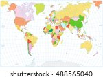 blank political world map with... | Shutterstock .eps vector #488565040
