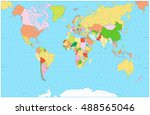 blank political world map... | Shutterstock .eps vector #488565046