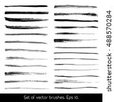 set of vector brushes. set of... | Shutterstock .eps vector #488570284